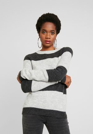 VMPLEASENT O NECK - Maglione - light grey melange/snow melange
