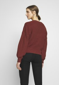 Vero Moda - VMLEA V-NECK  - Strickjacke - sable - 2