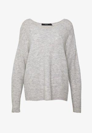 CREW V-NECK - Trui - light grey melange