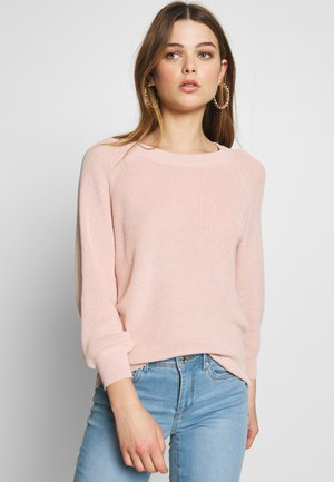 Strickpullover - sepia rose