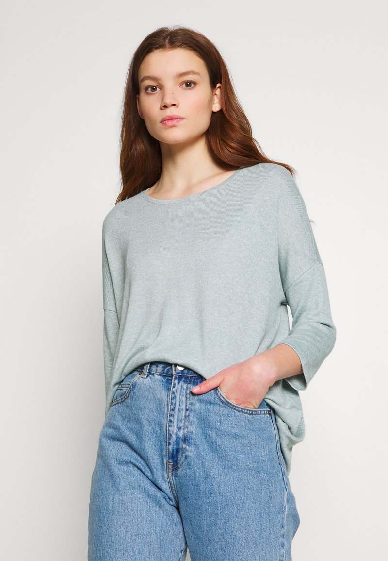 Vero Moda - VMBRIANNA  - Jersey de punto - slate/birch melange