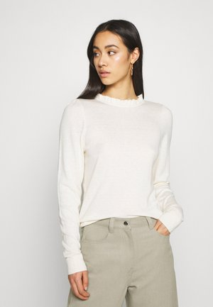VMSILKY  RUFFLE   - Jumper - birch