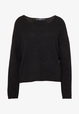 VMNEWGLENDORA V-NECK - Jersey de punto - black