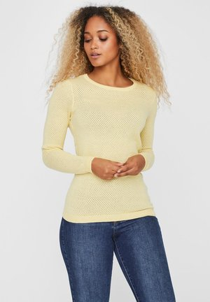 Sweter - pale banana