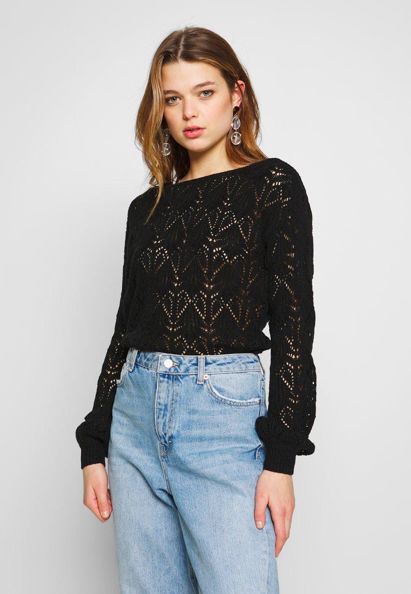 Vero Moda - VMCARRIEANNE PATTERN  - Pullover - black