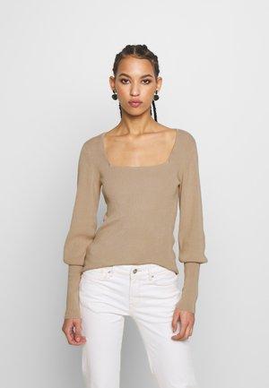 VMYAZURI SQUARE NECK  - Pullover - beige