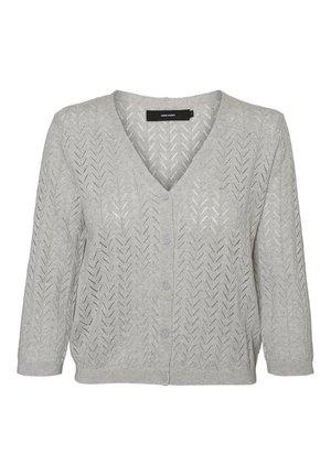 VMCADDIE 3/4 BUTTON CARDIGAN PI - Vest - light grey melange