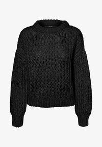 Vero Moda - VOLUMENÄRMEL - Jersey de punto - black - 4