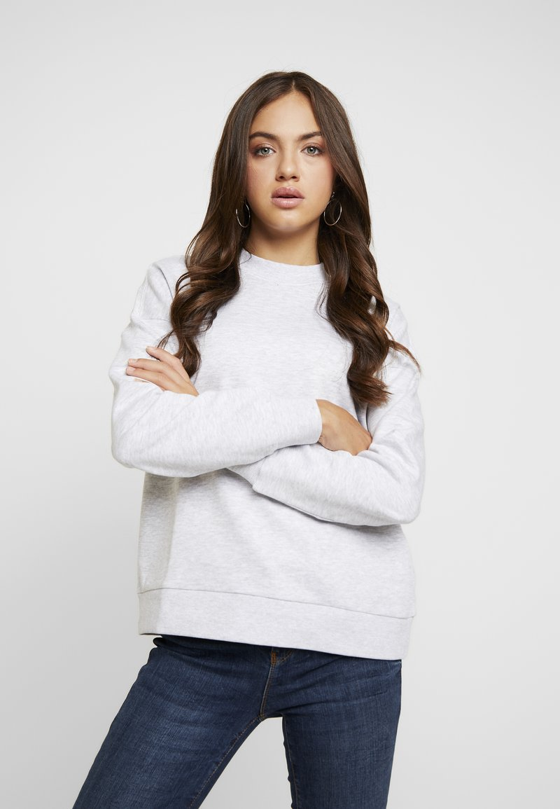 Vero Moda - VMINEZ CREW NECK - Sweatshirt - light grey melange