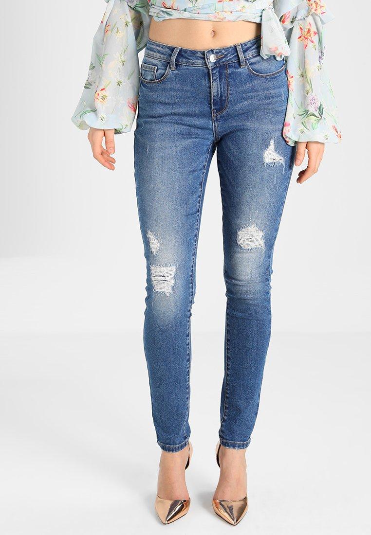 Vero Moda - VMSEVEN REPAIR - Jeans Slim Fit - medium blue denim