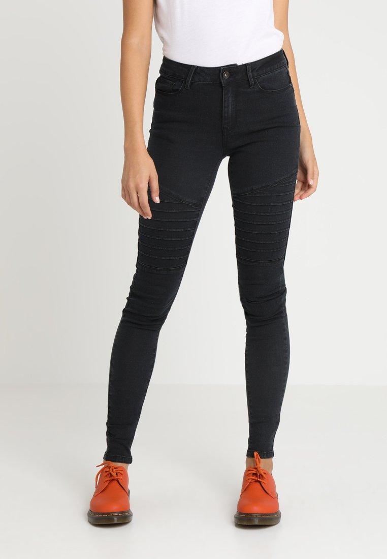 Vero Moda - VMHOT SEVEN BIKER PANTS - Jeans Skinny Fit - dark grey denim