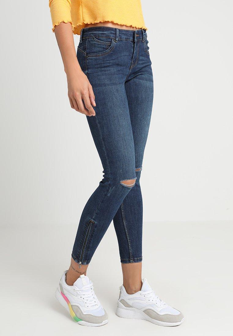 Vero Moda - VMELLA ANKLE ZIP - Jeans Skinny Fit - medium blue denim