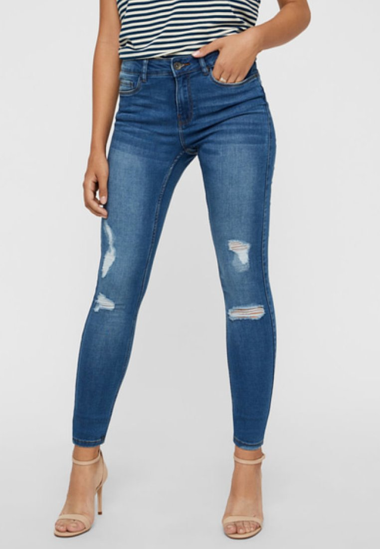 Vero Moda - Jeans Skinny Fit - medium blue