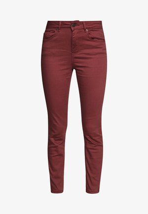 VMHOT SEVEN ZIP PANTS - Jeansy Skinny Fit - sable