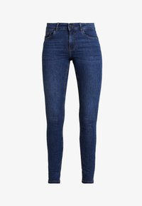 Vero Moda - VMSEVEN SHAPE UP - Jeans Skinny Fit - dark blue denim