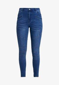 Vero Moda - VMSOPHIA BIKER PANT - Jeansy Skinny Fit - dark blue denim - 3