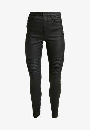 VMSOPHIA BIKER COATED - Jeans Skinny Fit - black