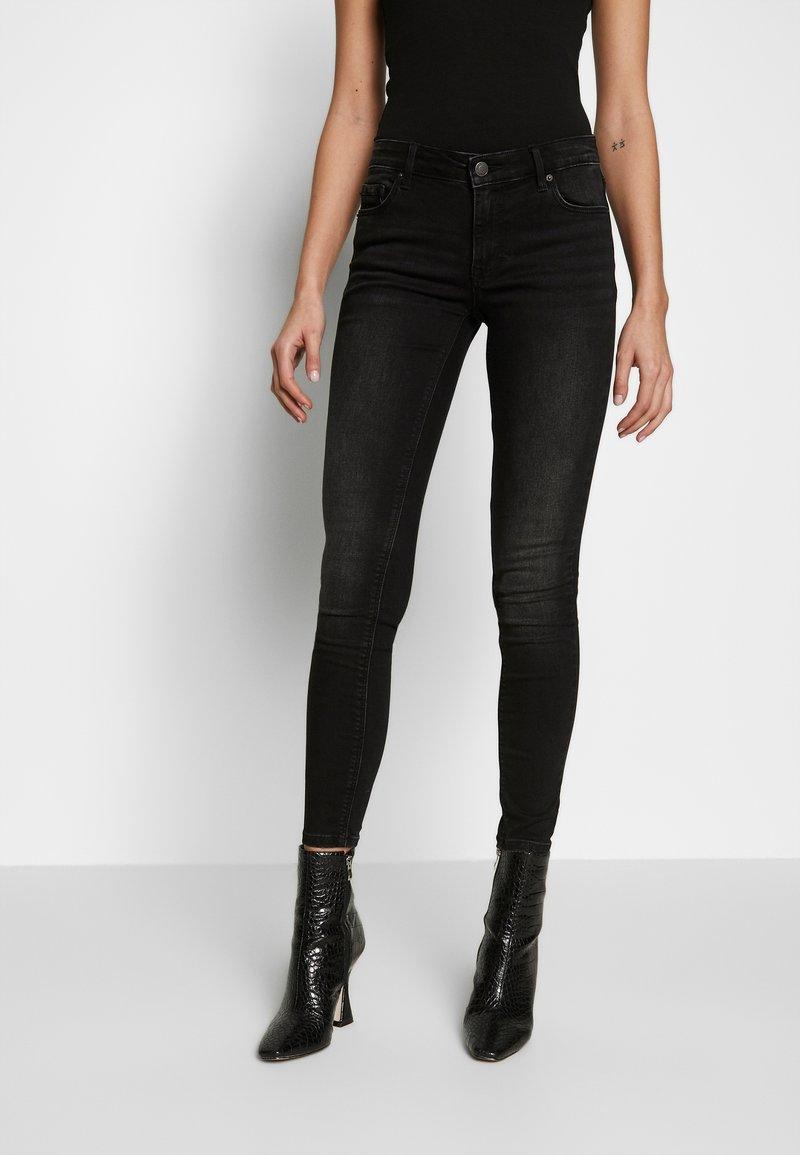 Vero Moda - VMLYDIA LR SKINNY JEANS  - Jeans Skinny Fit - black