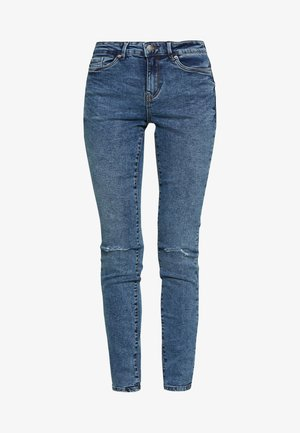 VMSEVEN DESTROY - Jeansy Skinny Fit - medium blue denim