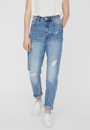 VMJOANA  - Straight leg jeans - light blue