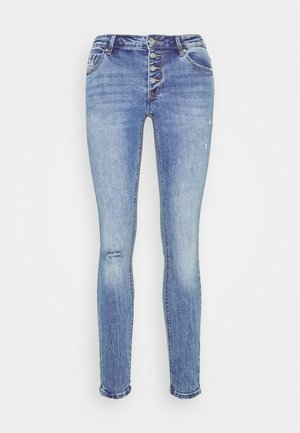 VMLYDIA SKINNY BUTTON  - Jeans Skinny Fit - medium blue denim