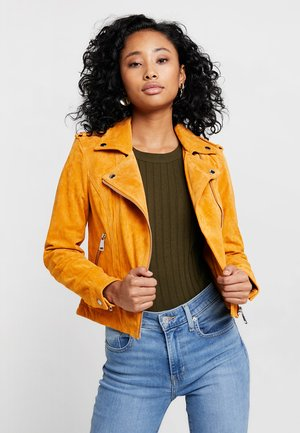 VMROYCE SHORT JACKET - Leren jas - golden nugget