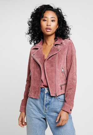 VMROYCE SHORT JACKET - Leren jas - old rose
