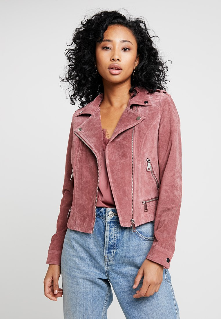 Vero Moda - VMROYCE SHORT JACKET - Leather jacket - old rose