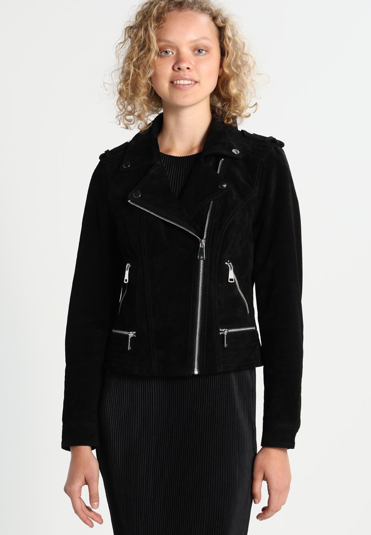 Vero Moda - VMROYCE SHORT JACKET - Leather jacket - black