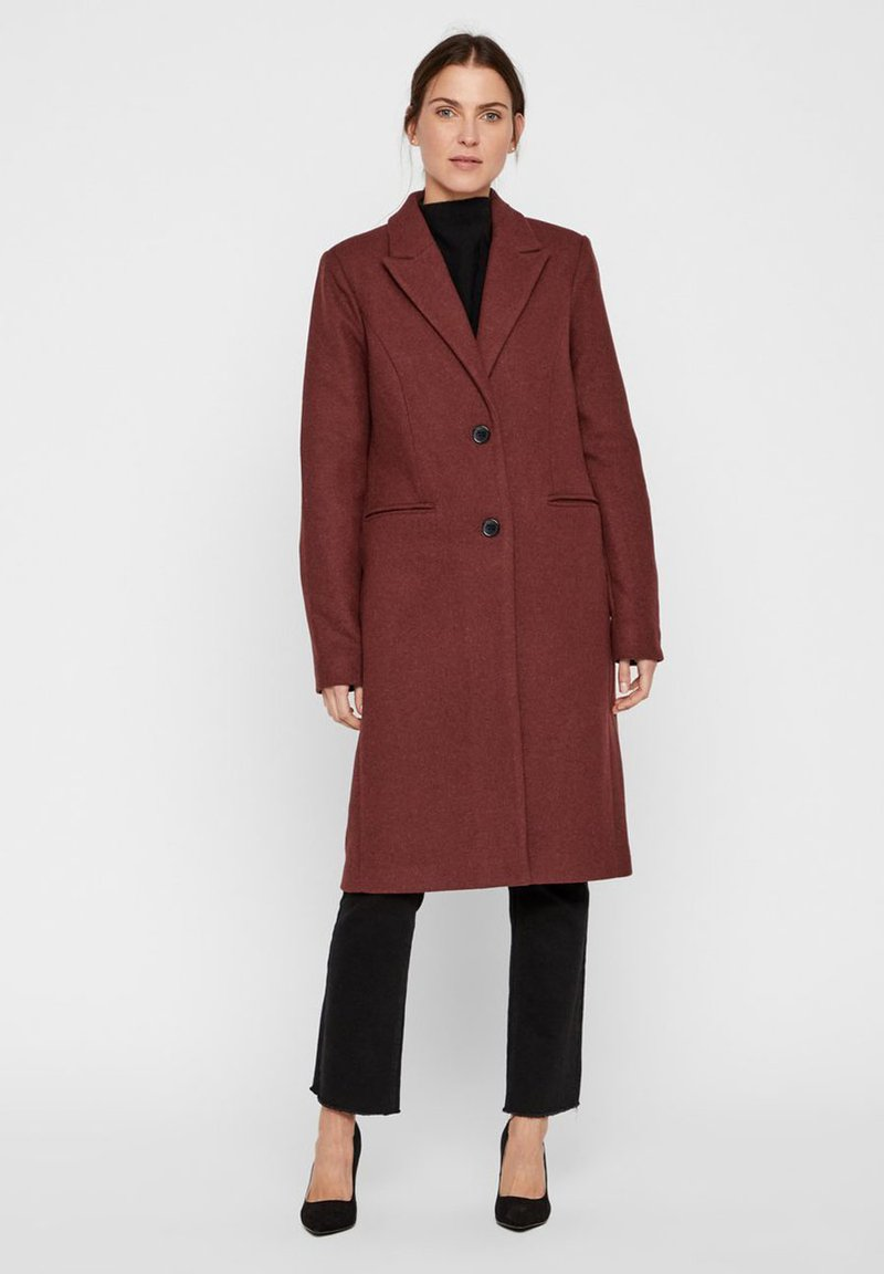 Vero Moda - VMBLAZA LONG - Classic coat - brown