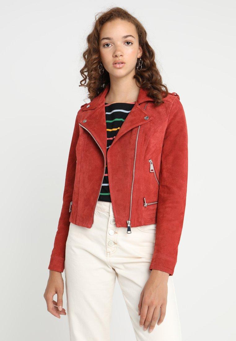 Vero Moda - VMROYCE - Leather jacket - ketchup