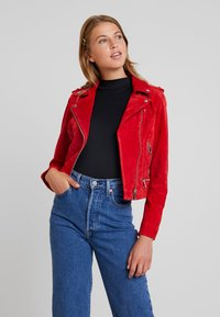 Vero Moda - VMROYCE - Leather jacket - chinese red - 0