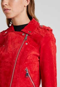 Vero Moda - VMROYCE - Leather jacket - chinese red - 4