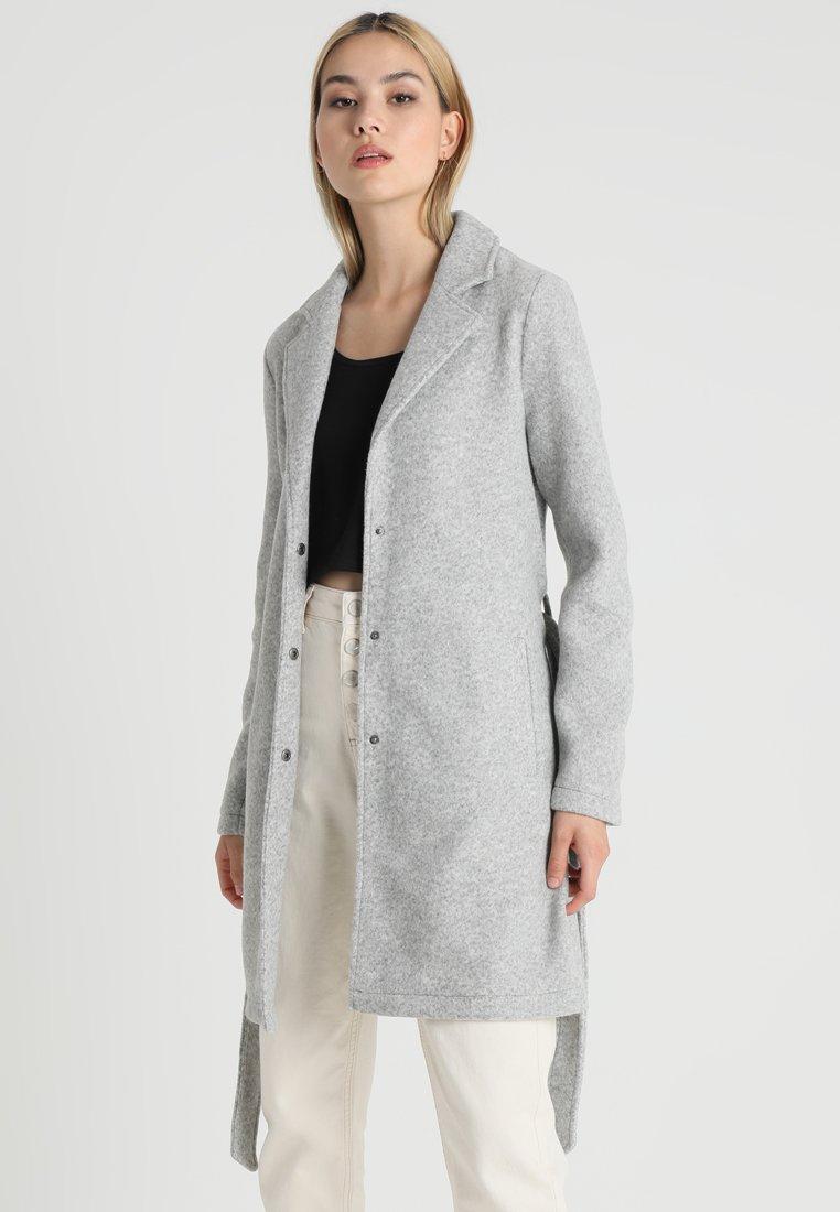 Vero Moda - VMNINA BRUSHED - Zimní kabát - light grey melange