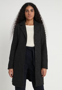 Vero Moda - VMNINA BRUSHED - Zimní kabát - dark grey melange - 0