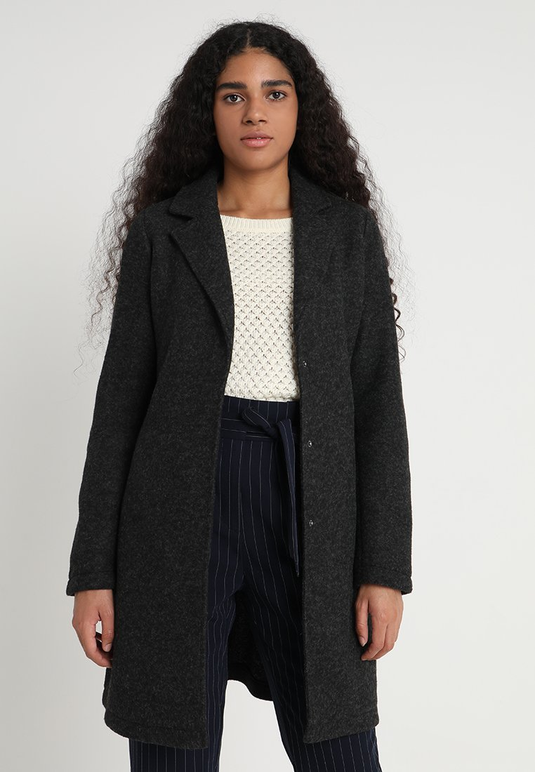 Vero Moda - VMNINA BRUSHED - Cappotto classico - dark grey melange