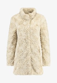Vero Moda - VMCURL HIGH NECK JACKET NO - Halflange jas - oatmeal - 3