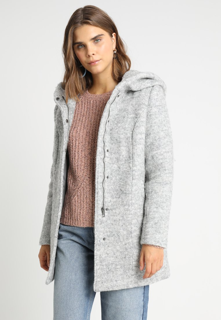 Vero Moda - VMVERODONA - Halflange jas - light grey melange