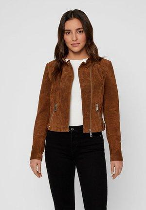 VMFIA ROYCE SHORT JACKET - Leather jacket - cognac