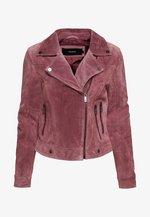 VMROYCESALON SHORT JACKET - Leather jacket - old rose