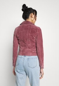 Vero Moda - VMROYCESALON JACKET - Leren jas - old rose - 2