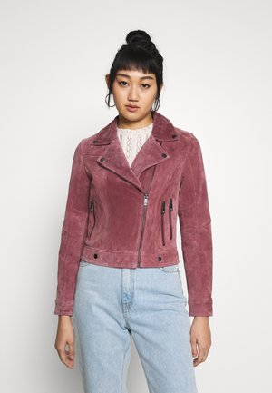 VMROYCESALON SHORT JACKET - Leren jas - old rose
