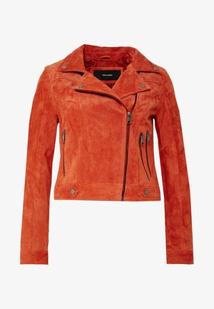 VMROYCESALON SHORT JACKET - Leather jacket - bruschetta