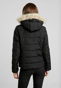 Vero Moda - VMMOLLIE SHORT JACKET - Light jacket - black/gun metal trim - 2