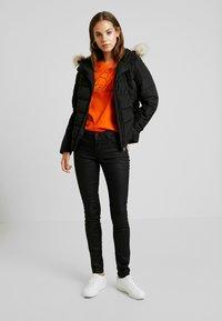 Vero Moda - VMMOLLIE SHORT JACKET - Light jacket - black/gun metal trim - 1