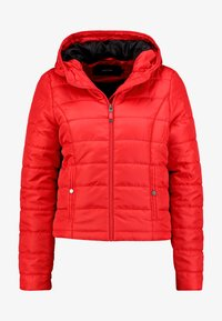 Vero Moda - VMSIMONE HOODY SHORT JACKET - Lehká bunda - chinese red - 4