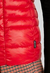 Vero Moda - VMSORAYA SHORT WAISTCOAT - Waistcoat - chinese red - 5