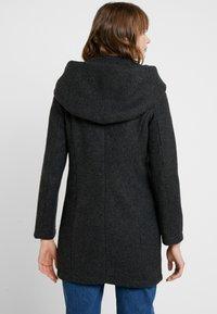 Vero Moda - VMBRUSHEDVERODONA - Halflange jas - dark grey melange - 2