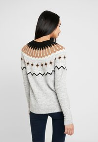 Vero Moda - VMTITI O NECK - Jumper - light grey melange/black/pristin - 2
