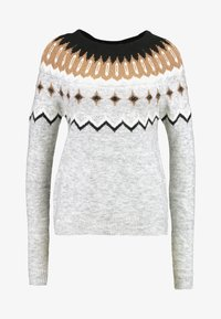 Vero Moda - VMTITI O NECK - Jumper - light grey melange/black/pristin - 3